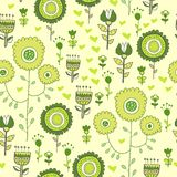 Seamless flower pattern background in vector Stock Photography
