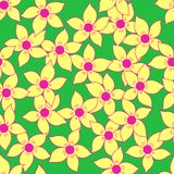 Seamless flower pattern background Royalty Free Stock Photography