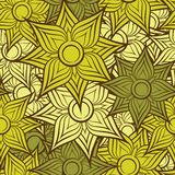 Seamless flower pattern background Royalty Free Stock Images