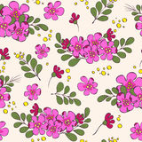 Seamless flower pattern, background Royalty Free Stock Photo