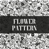 Seamless flower pattern in black and white style. Vector illustration. Decorative flowers design elements Stock Photography