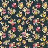 Seamless flower pattern. Can be used for wallpaper, website background, wrapping paper, invitation, flyer, banner or website. Hand drawn vector illustration of Royalty Free Stock Photo