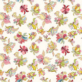 Seamless flower pattern. Can be used for wallpaper, website background, wrapping paper, invitation, flyer, banner or website. Hand drawn vector illustration of Royalty Free Stock Photos