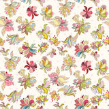 Seamless flower pattern. Can be used for wallpaper, website background, wrapping paper, invitation, flyer, banner or website. Hand drawn vector illustration of Royalty Free Stock Photography