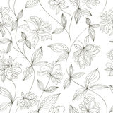 Seamless flower pattern. Can be used for wallpaper, website background, wrapping paper, invitation, flyer, banner or website. Hand drawn vector illustration of Stock Images