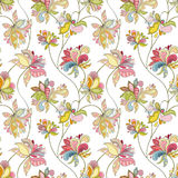 Seamless flower pattern. Can be used for wallpaper, website background, wrapping paper, invitation, flyer, banner or website. Hand drawn vector illustration of Royalty Free Stock Images