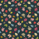 Seamless flower pattern. Can be used for wallpaper, website background, wrapping paper, invitation, flyer, banner or website. Hand drawn vector illustration of Stock Photo