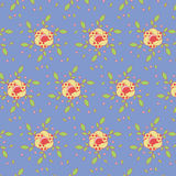 Seamless Flower Pattern Colorful Set Stock Photography