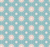 Seamless Flower Pattern Colorful Set Royalty Free Stock Image