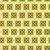 Seamless Flower Pattern Colorful Set Stock Image