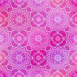 Seamless flower pattern doodle pink Stock Images