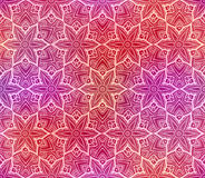Seamless flower pattern doodle red Royalty Free Stock Image