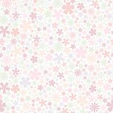 Seamless flower pattern. Flat little flowers on white background. Cute Vector wedding illustration. Spring romantic wallpaper. Camomile, daisy, forget me not Royalty Free Stock Photo