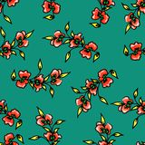 Seamless flower pattern. Gentle spring and summer flowers. Print for fabric and other surfaces royalty free illustration