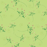 Seamless flower pattern green background Stock Photo