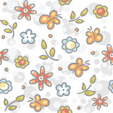 Seamless flower pattern. Seamless hand-drawn flower pattern Royalty Free Stock Photo
