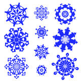 Seamless Flower pattern - Illustration. Group 6 different type of illustrations of snowflake.EPS 8 Royalty Free Stock Photography