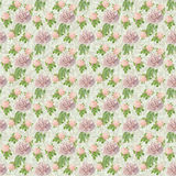 Seamless flower pattern paper wallpaper Stock Image