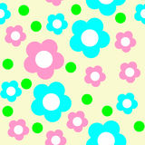 Seamless Flower Pattern in Pastel Colors. Stock Photography