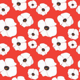 Seamless flower pattern. poppy. illustration Stock Photo