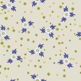 Seamless flower pattern. Seamless purple and yellow flower pattern royalty free illustration