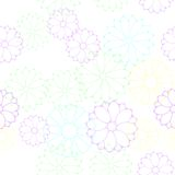 Seamless flower pattern. Raster illustration of seamless flower pattern for design Stock Photo