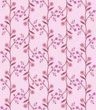 Seamless flower pattern in retro sixties style Royalty Free Stock Photos
