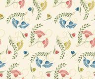 Seamless flower pattern stock illustration