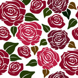 Seamless flower patternwith roses Stock Image