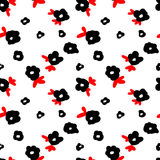 Seamless flower pattern. Seamless pattern, flower vector art  background design for fabric and decor Stock Photography