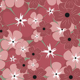 Seamless Flower Pattern. Vector Background Stock Image