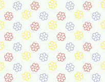 Seamless flower pattern vector background Royalty Free Stock Images