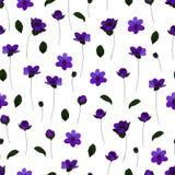 Seamless flower pattern. Vector seamless flower pattern for design Stock Photo
