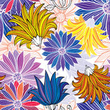 Seamless flower pattern. Vector illustration of seamless flower pattern Royalty Free Stock Photography