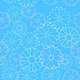 Seamless flower pattern. Vector illustration of a seamless flower pattern Royalty Free Stock Photo