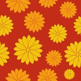 Seamless flower pattern. Vector illustration of a seamless flower pattern Stock Images