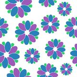 Seamless flower pattern. Vector illustration of a seamless flower pattern Stock Image