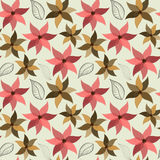 Seamless flower pattern. Vector seamless wallpaper and background of fancy flowers stock illustration