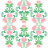 Seamless flower pattern on white background Stock Photography
