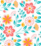 Seamless flower pattern on white background. Seamless flower pattern on white. Ukrainian style Stock Images