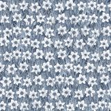 Seamless flower pattern of white narcissus on the grass. Background. royalty free illustration
