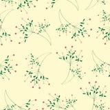 Seamless flower pattern yellow background Stock Photos