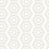 Seamless flower, plant vector pattern background. Stock Photo