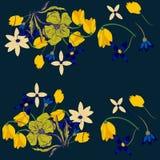 Seamless flower retro background pattern in. Cartoon Stock Photos
