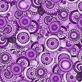 Seamless flower retro background pattern in vector Stock Photo