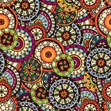 Seamless flower retro background pattern in vector Royalty Free Stock Photos