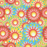 Seamless flower series. Floral and geometric patterns (print, swatches, seamless background, wallpaper, or repeat pattern repeat Stock Images
