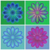 Seamless Flower Set Stock Photography