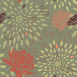 Seamless Flower and Star Bursts Pattern Stock Photos