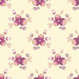 Seamless flower texture. Vector purple seamless flower texture Royalty Free Stock Image